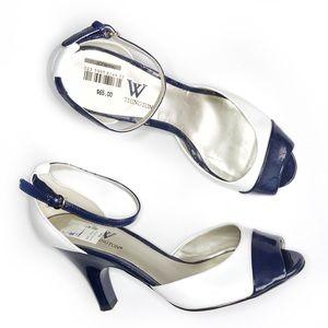 Worthington • Patent Leather Peep Toe Heels